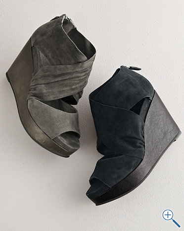 eileen fisher draw suede wedge shoes lucky shoes