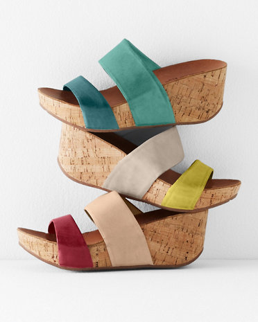 9dbe614626a8 Chocolat Blu Martin Color Block Wedges – Lucky Girl Shoes